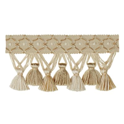"Jaclyn Smith 2.75"" 01874 Tassel Fringe Neutral"