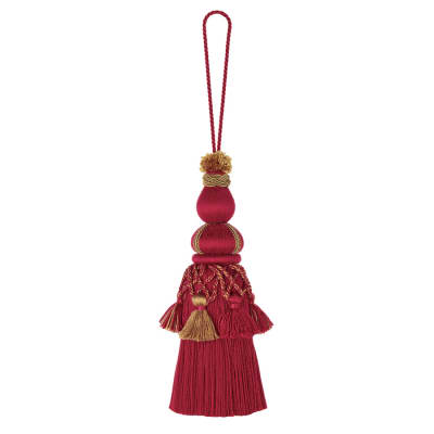 "Jaclyn Smith 10.75"" 01877 Key Tassel Red"