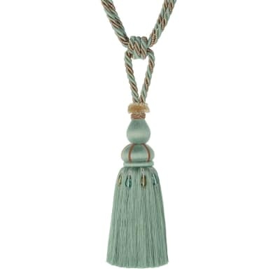 "Jaclyn Smith 30"" 01878 Single Tassel Tieback Aqua"