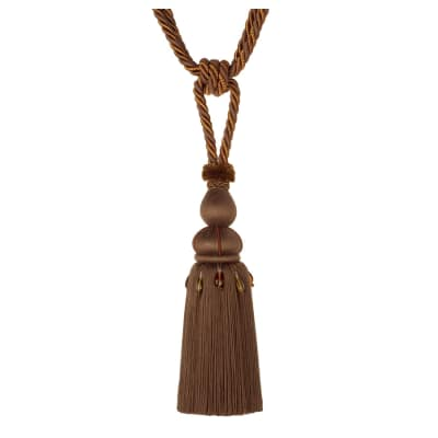 "Jaclyn Smith 30"" 01878 Single Tassel Tieback Brown"