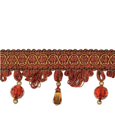 "Jaclyn Smith 2"" 02110 Tassel Fringe Brick"