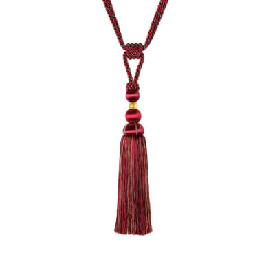 "Jaclyn Smith 29"" 02112 Single Tassel Tieback Berry"