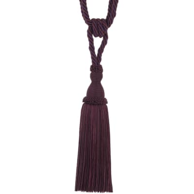 "Trend 29"" 02871 Single Tassel Tieback Plum"