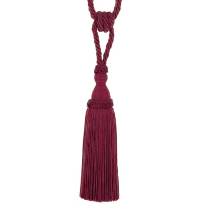 "Trend 29"" 02871 Single Tassel Tieback Cherry"