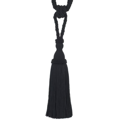 "Trend 29"" 02871 Single Tassel Tieback Black"