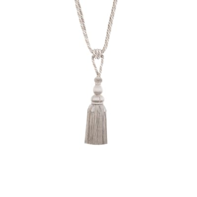 "Jaclyn Smith 30"" 03947 Single Tassel Tieback Platinum"