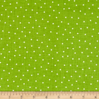 Riley Blake Glamper-licious Dots Green