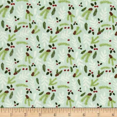 Riley Blake Comfort and Joy Floral light Green