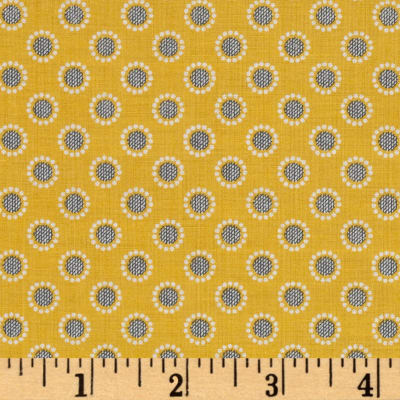Penny Rose Linen and Lawn Circle Yellow