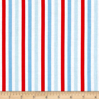Riley Blake Sharktown Stripe Red