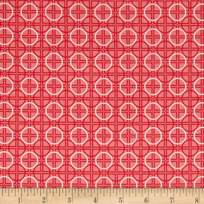Riley Blake Bee Basics Circle Red