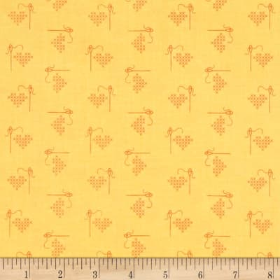 Riley Blake Bee Basics Heart Yellow