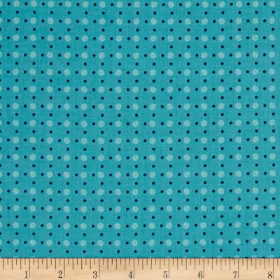 Riley Blake Bee Basics Polka Dot Turquoise