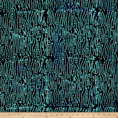 Indian Batik Abstrct Dots Blue/Teal