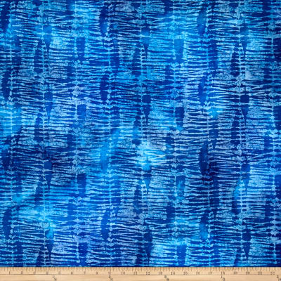 Indian Batik Tye Dyed Stripe Light Blue