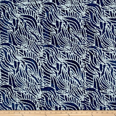 Indian Batik Abstract Indigo