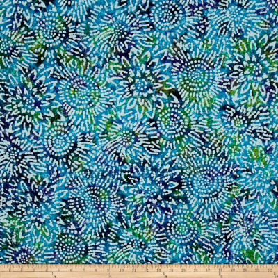 Indian Batik Sunflower Blue/Purple/Teal