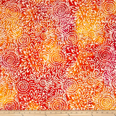Indian Batik Sunflower Orange/Yellow/Pink