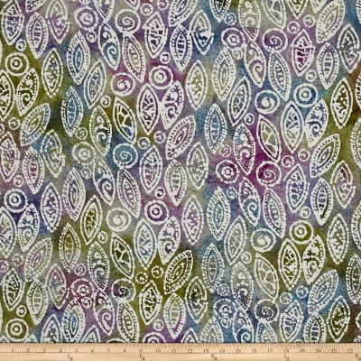 Indian Batik Abstract Blue/Purple