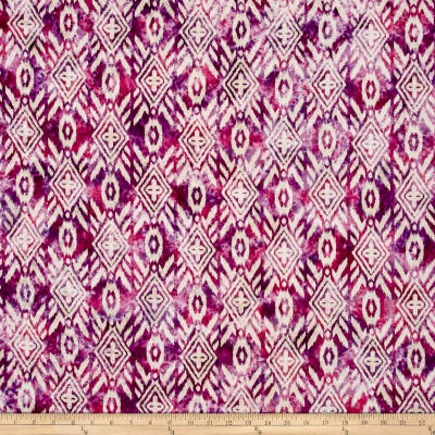 Indian Batik Large Ikat Pink/Purple