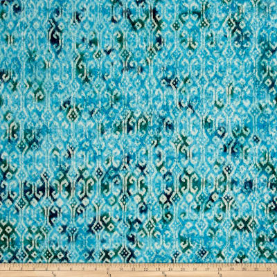 Indian Batik Small Ikat Teal
