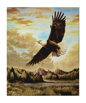 "Penny Rose Majestic Outdoors 2 Digital Eagle 35"" Panel"