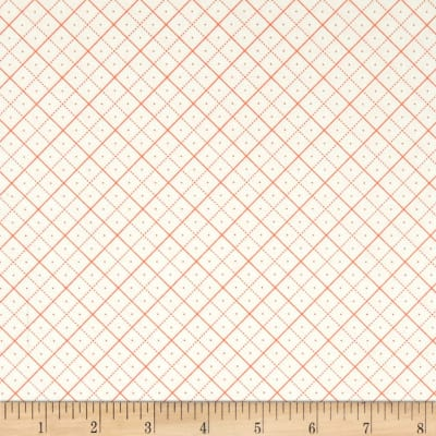 Riley Blake Bee Backgrounds Grid Orange