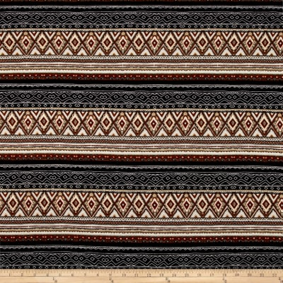 Hacci Sweater Knit Aztec Brown/Black/White