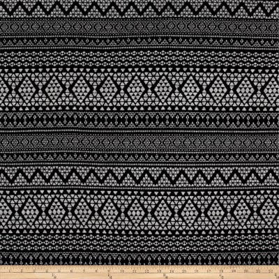 Hacci Sweater Knit Aztec Black/Grey