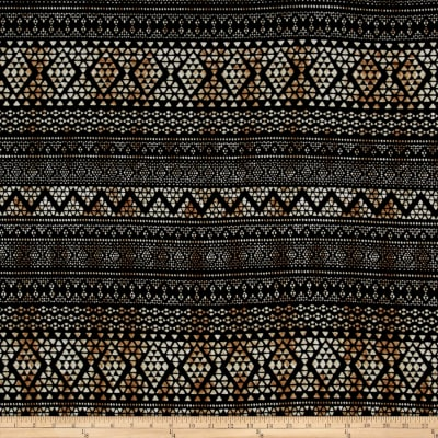 Hacci Sweater Knit Aztec Black/Brown
