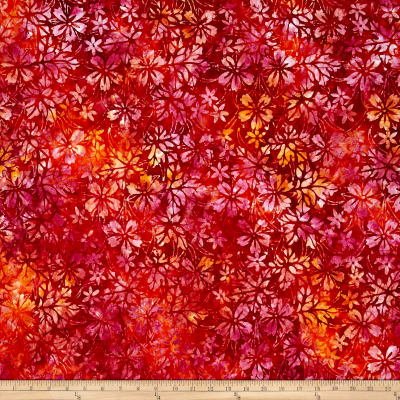 Anthology Batik Floral Fire Orange