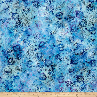 Anthology Batik Hearts Blue