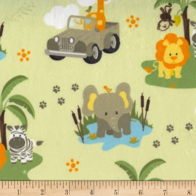 Michael Miller Minky Safari Jeep Safari Jeep Green