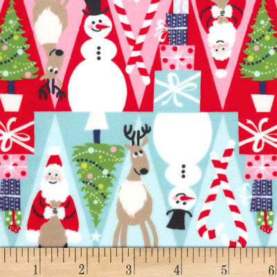 Michael Miller Minky Holiday Row Holiday Row Multi