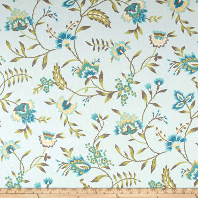 Waverly Carolina Crewel Mist Discount Designer Fabric