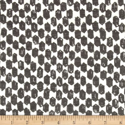 Italian Designer Cotton Silk Batiste Geo Black/White