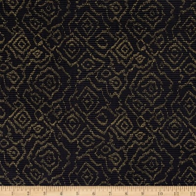 Crinkle Knit Abstract Black/Gold