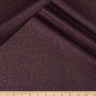 Reversible Brocade Plum/Metallic