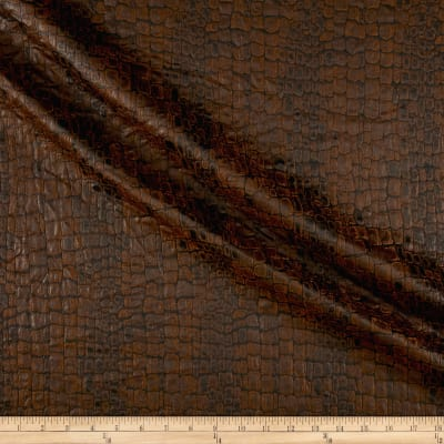 French Designer Jacquard Alligator Brown