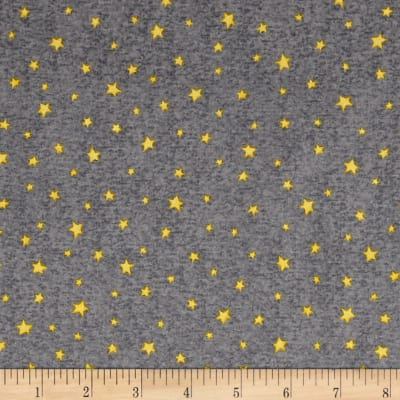 QT Fabrics Hangin' Out Stars Gray