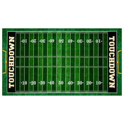 "Gridiron Football Field 24"" Panel Green"