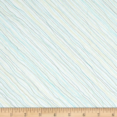 Santoro Gift Of Friendship Diagonal Linear Stripe White/Teal
