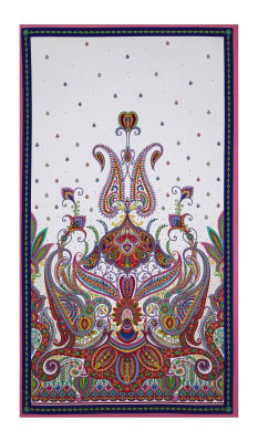 """Imperial Paisley 24"""" Panel Multi"""