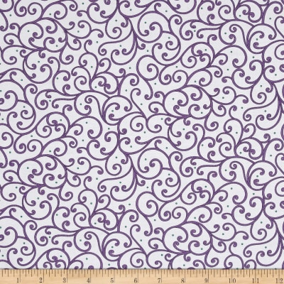Imperial Paisley Scroll White/Purple