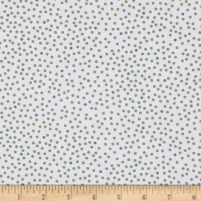 Imperial Paisley Dots White/Lime