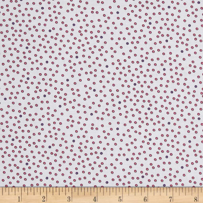Imperial Paisley Dots White/Pink