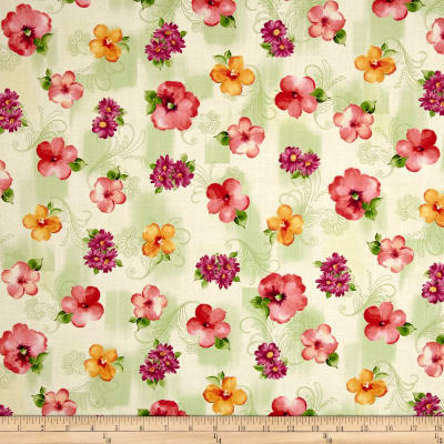 Sophia Spaced Floral Light Green