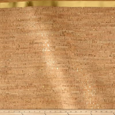EverSewn Cork Fabric 1 Yard Natural with Gold Flecks