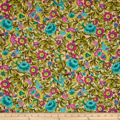 Ink & Arrow Paloma Packed Floral Soft Yellow