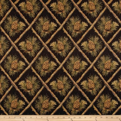 Lattice Pine Cone Jacquard Black